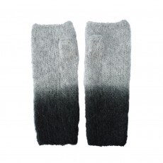 Fairtrade Hand Knitted Mohair Ombre Wristwarmers