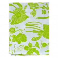 Cotton Hand Printed Tea Towel - Floral