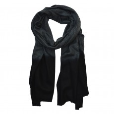 Fairtrade Long Dip Dye Wool Scarf