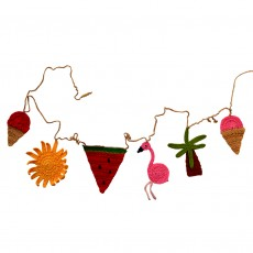Hand Crocheted Summer Party Bunting