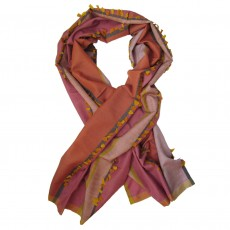 Luxury Silk & Cashmere Hand Woven Long Scarf - Petal