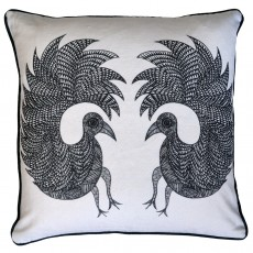 Square Cotton Canvas Digitally Printed Cushion - Prem