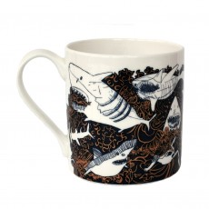 Fine Bone China Mug-Sharks