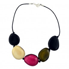 Organic Tagua Nut Short Necklace