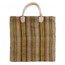 Fairtrade Striped Jute Shopper Bag