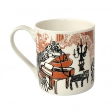Fine Bone China Mug-Opulent Tiger