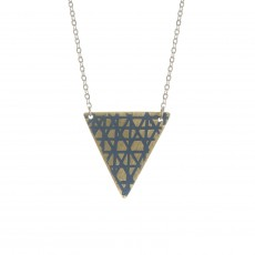 Fair Trade Tila Shard Brass and Enamel Necklace