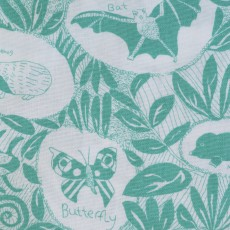 Cotton Hand Printed Tea Towel - British Widlife