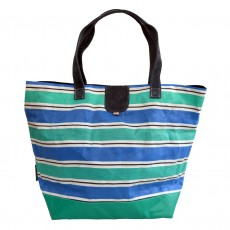Tote Bag - Made from Upcycled Deckchair Canvas & PVC
