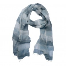 Fine Cotton Hand Woven Long Stripe Scarf