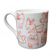 Fine Bone China Mug-Cats