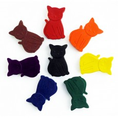 Non Toxic Wax Colouring Crayons-Cats