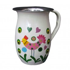 Fairtrade Stainless Steel Hand Painted 2 Litre Jug-Chicken