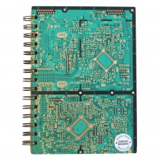 Reclaimed Circuit Board Notebook With Recycled Paper
