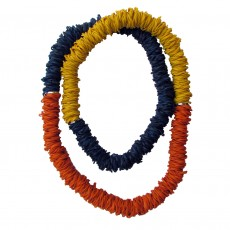 Extra Long Colour Block Natural Latex Rubber Necklace