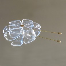 Upcycled PET Plastic  Daisy Brooch