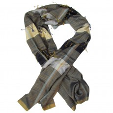 Luxury Hand Woven Silk Long Scarf - Frolic