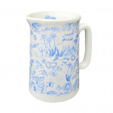 Fine Bone China Half Pint Jug-Garden