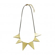 Fairtrade Brass Triangle Collar Necklace