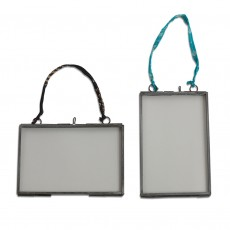 Fairtrade Recycled Glass & Metal Wall Display Frame-Medium