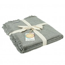 Wool Throw Made From Recycled Fibres - Grey