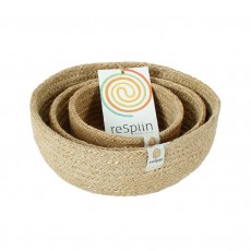 Mini Jute Storage Bowl Set