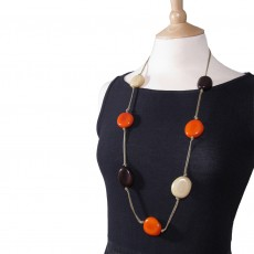 Long Organic Tagua Nut Necklace