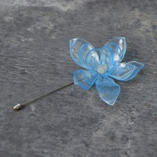 Upcycled PET Plastic Lotus Brooch