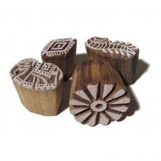 Fairtrade Indian Wooden Printing Blocks-Set of 4