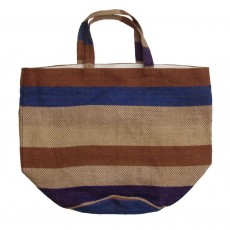 Fairtrade Striped Jute Jumbo Tote Bag
