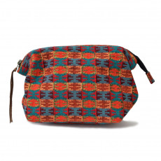Ethically Made Handwoven Hinged Clutch / Makeup Bag