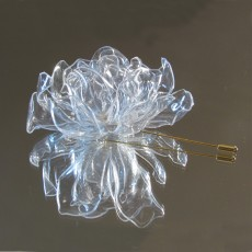 Upcycled PET Plastic Rose Brooch