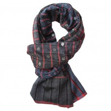 Luxury Handwoven Silk & Merino Wool Long Scarf - Solar Arabian