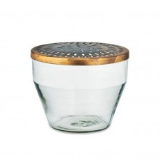 Fair-Trade Tapered Glass Vase with Lid - Large
