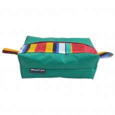 Washbag - Made from Upcycled PVC and Deckchair Canvas