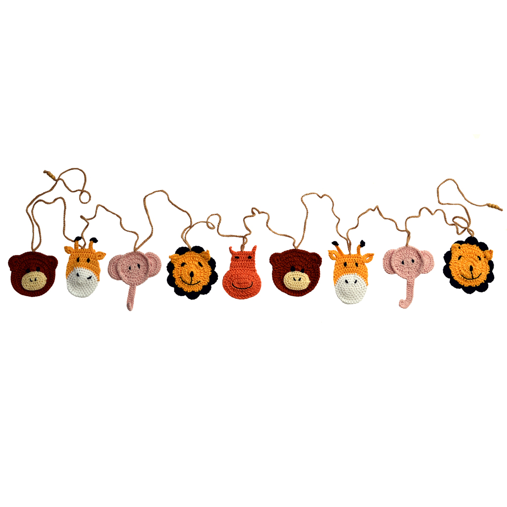 Press-Femmes Magazine | Safari Animal Crocheted Bunting