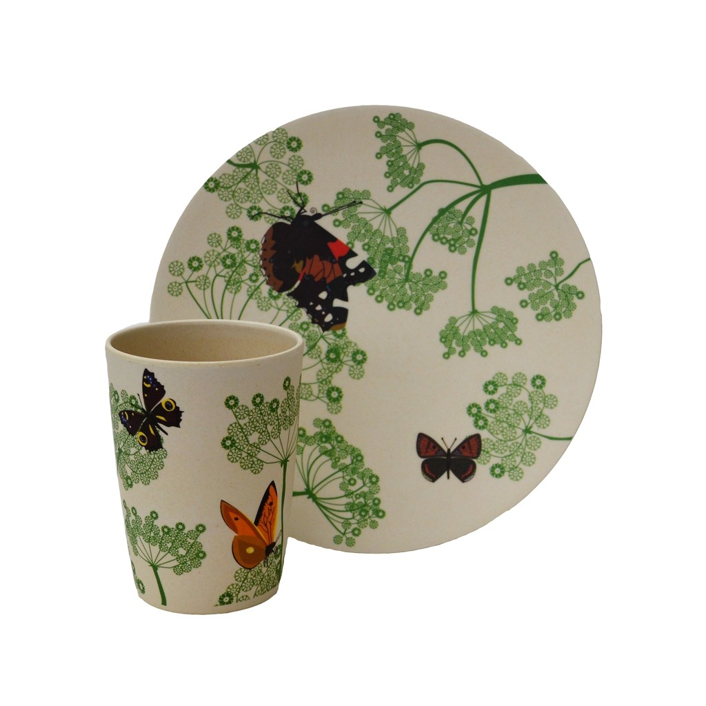 Press-Oswestry Life | Eco-Friendly Botanical Cup and Plate Set